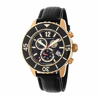 Morphic Morphic M51 Series Swiss Leather Strap Watch, Rose Gold/Black, : MPH5103