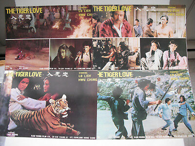TIGER LOVE non shaw brothers lobby cards 1977 LO LIEH