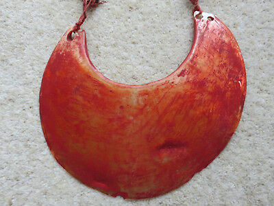 Large Old Tribal Kina Shell Necklace Papua New Guinea Sea Urchin