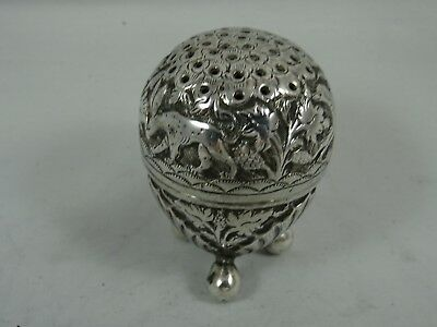 INDIAN silver PEPPER, c1900, 33gm