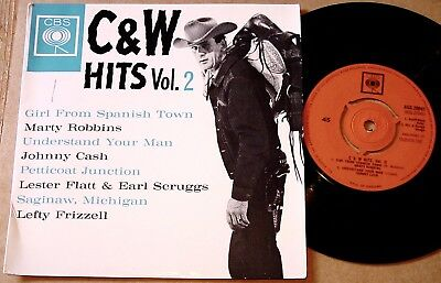 """Various : Country & Western Hits Vol.2 UK CBS 4 Track 7"""" 45 EP 1964 - AGG 20041"""