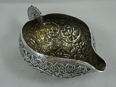 FABULOUS, INDIAN solid silver SAUCE BOAT, c1900, 156gm