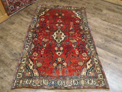 Ca1930s VGDY ANTIQUE PERSIAN LILIHAN MALLAYER SAROUK 4.1x6.6 ESTATE SALE RUG