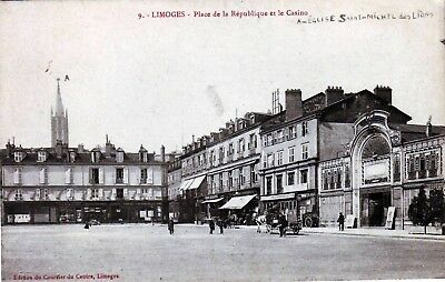 87 - Limoges -- Place De La Republique  Animee