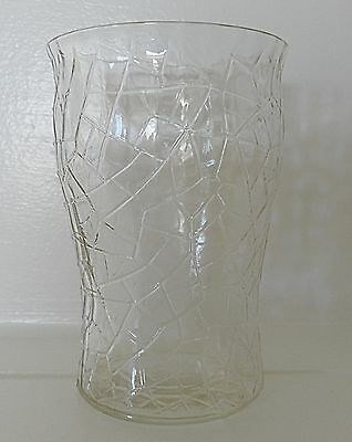 L E Smith By Cracky Crackled Glass Tumbler 8 Ounce