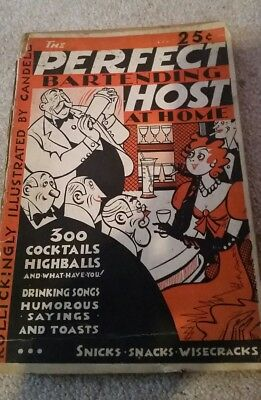 1934 The Perfect Bartending Host At Home Book illustrated by  Victor Candell
