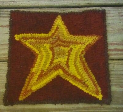 BEGINNER STAR  Primitive Rug Hooking KIT WITH #8 CUT WOOL STRIPS