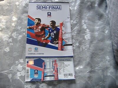 2012 Fa Cup Semi-Final Liverpool V Everton Plus Match Ticket