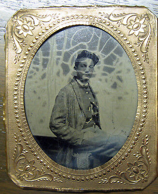 Tintype 11th Minnesota Sergeant in Dressing Gown!
