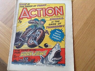 CLASSIC BRITISH 1970 's ACTION COMIC ( DATED 11th DECEMBER 1976 )