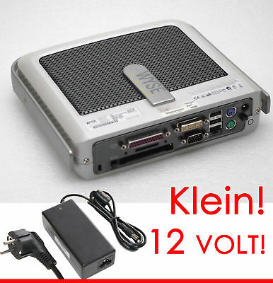 MINI COMPITER WYSE V90 DUAL VIDEO WINDOWS XPe RS-232 PARALLEL 12V NETZTEIL -TC4