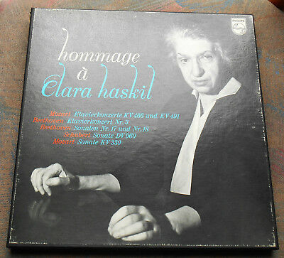 LP HOMMAGE À CLARA HASKIL 4 LP Box, DUTCH, MINT-