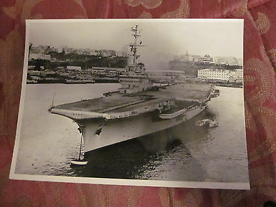 Picture of Clemenceau French Aircraft Carrier 1959 Fednews Photo