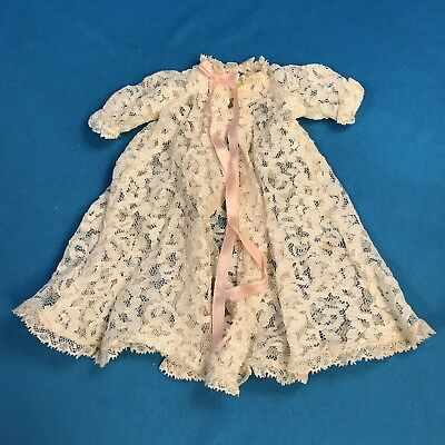 Vintage Madame Alexander Cissette Lace Robe With Pink Ribbon