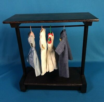 Vintage Madame Alexander Cissette Barbie Black Wood Clothing Rack Doll Furniture