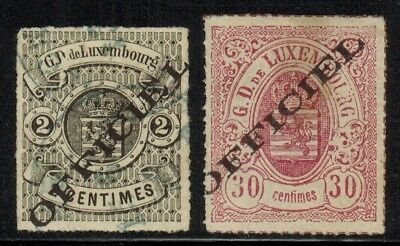 Luxembourg #O2,O8 1875 MLH(O8)/Used