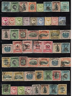 Lot of Labuan Old Stamps Used/MH