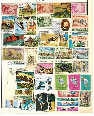 Lot of Laos Old Stamps Used/MH