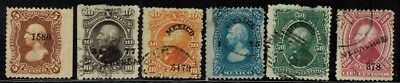 Mexico #106-111 1874-80 Used
