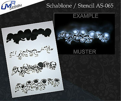 Step by Step Airbrush Stencil AS-065 M ~ Template ~ UMR-Design