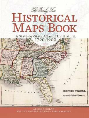 Family Tree Historical Maps Genealogy State-by-State Atlas US Histroy c1790-1900