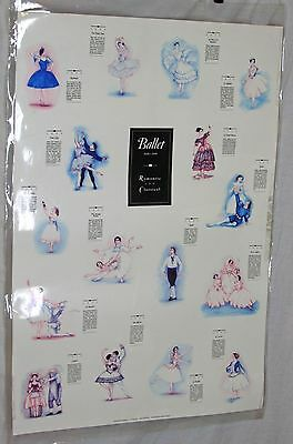 Vintage Poster Ballet 1830]1905 Romantic and Classical c 1996 Timelines 3' x 2'