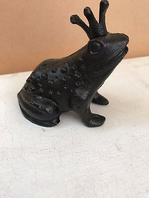 Fabulous Decorative Cast Iron Figure Of A Frog Prince