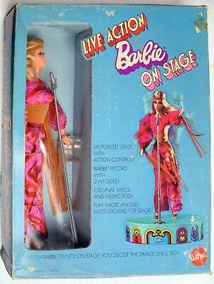 Barbie Doll-Mattel-Live Action On Stage-Mint Boxed-NRFB-1979-RCKD