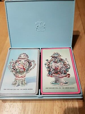 Vintage Thomas De La Rue Twin Pack Playing Cards Boxed