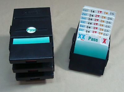 Vintage Set Of 4 Bridge Partner Bridge Boxes With Bidding Cards Card Game