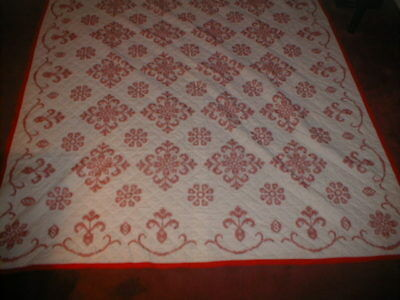 Antique/Vintage Red&White Quilt