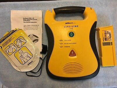 Works / AS-IS Defibtech Lifeline AED with Battery and Adult Pad