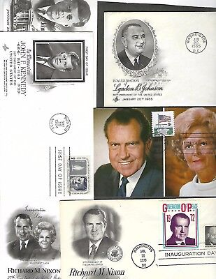 United States  Lot Of 25 Inauguration Covers/cards Includes 8 Presidents