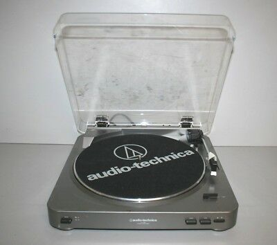 a) Audio-Technica AT-LP60 Stereo Turntable Record Player- Works