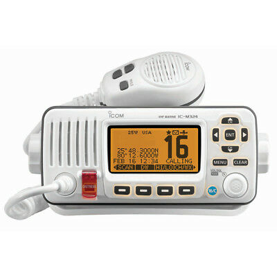 Icom M324 Fixed Mount VHF Marine Transceiver - Super White Part # IC-M324 02