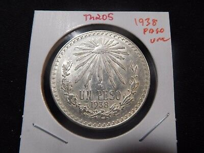 INV #Th205 Mexico 1938 Silver Peso UNC
