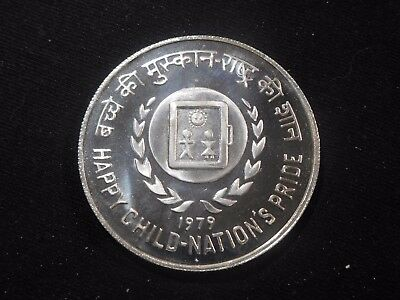 INV #Th228 India 1979 Silver 50 Rupees