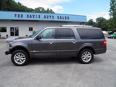 2015 Ford Expedition EL LIMITED LOW MILEAGE LIMITED ECOBOOST EL 4X4 DAMAGED SALVAGE REPAIRABLE PROJECT FIXER