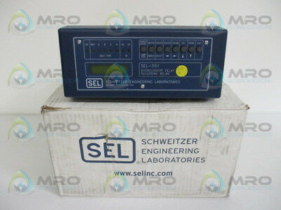 Sel Sel-551 05510W325514 Overcurrent Relay Reclosing Relay *new In Box*