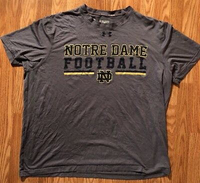 Notre Dame Football Team Issued Under Armour Shirt 2xl