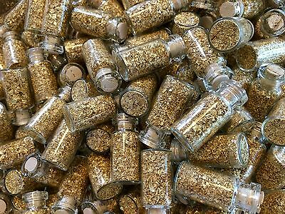 17 Large Bottles of Gold Leaf Flakes ..... Lowest price on Ebay !!
