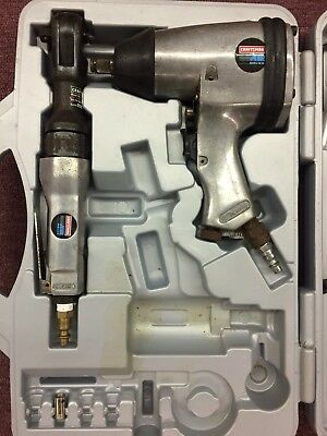 "Craftsman 1/2"" Impact Wrench Air Ratchet model 191180 & 191171 Set W/ Case"
