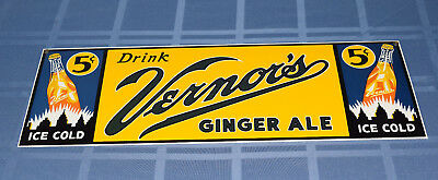 1990's Replica Authentic Ande Rooney VERNOR'S Ginger Ale PORCELAIN SIGN Soda