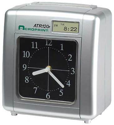 ACROPRINT ATR120r TIME CLOCK includes 250 TIME CARDS, CARD RACK & SPARE RIBBON