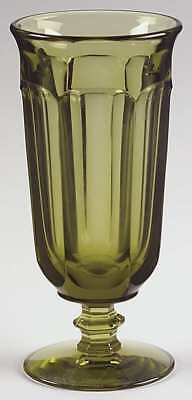Imperial Glass Ohio OLD WILLIAMSBURG VERDE GREEN Iced Tea Glass 5939636