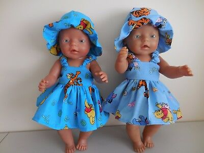 """Baby Born 17""""  Dolls Clothes Pooh Bear  Summer  Outfit"""