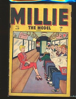Millie The Model # 19 Fair Cond. cover detached