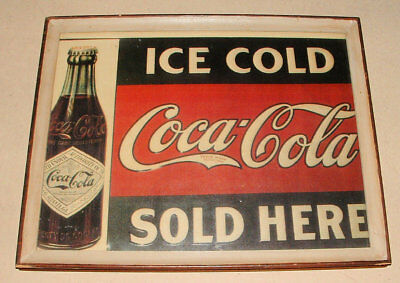 1940s OR 50s COCA COLA SIGN FRAMED