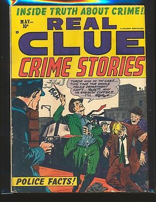 Real Clue Crime Stories Vol. 8 # 3 G/VG Cond. slight water damage