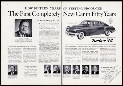 1958 Tucker car Preston Tucker photo vintage print ad